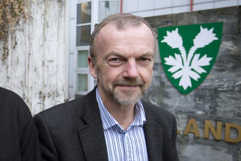 FJERNET INNLEGG: Fylkesrådmann Rasmus O. Vigrestad.