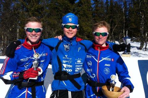 Reidar Aurmo fra Lom topper pallen for G14 foran brødrene Even og Jostein Karlsen fra Lillehammer.