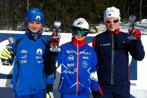 Rasmus Opdal Christiansen fra Lillehammer slo Emil Stenberg Øien og Even Wassrud i den yngste klassen (G11).