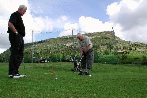 I HØYDEN: Skei Golfklubb feirer 20 år med jubileumsturnering på sin 18-hullsbane i helgen. Arkivfoto