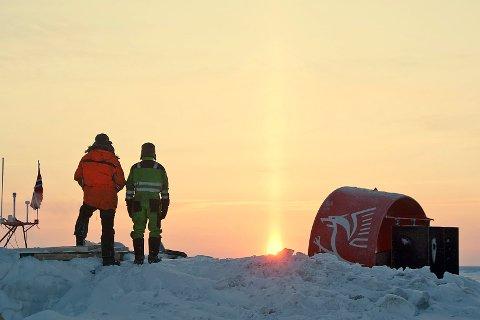 Sola vender tilbake til polhavet. Bildet er fra 14. mars i år.