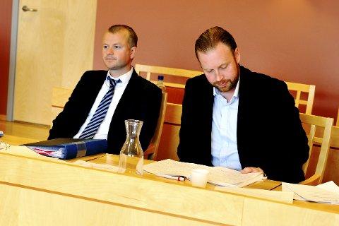 Advokat Joakim Augeli Karlsen og tidligere styreleder i Lillehammer Ishockeyklubb Lars Tvete.