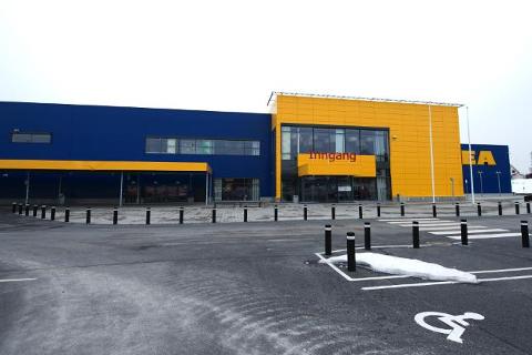 BLE SKADET: Arbeidsulykken skjedde på Ikea Ringsaker i sommer.