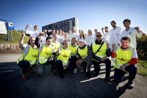 Leger i streik: Sykehusstreiken har vart i 30 dager onsdag. Nå er Sykehuset Innlandet også berørt. Bildet er fra sykehuset i Lillehammer.