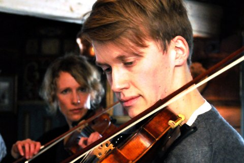 Trio:  Bjørn Kåre Odde og  Astrid Sulheim har med seg Aslak O. Brimi.