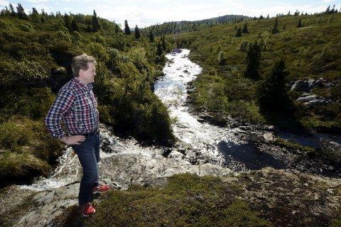 Ordfører Ole Tvete Muriteigen vil gjerne ha utbygging av Fossåa. Planen er å bygge dammen her, et stykke nedenfor vannet Skjervungen. Vannet skal føres i rørgate til et kraftverk vel fire kilometer lenger ned. Fossåa deler Nordre og Søre Lia i Sør-Fron, og renner til slutt ut i Lågen.