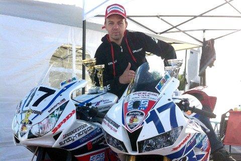 Helge Spjeldnes ble nummer tre i Superbike-NM sammenlagt.