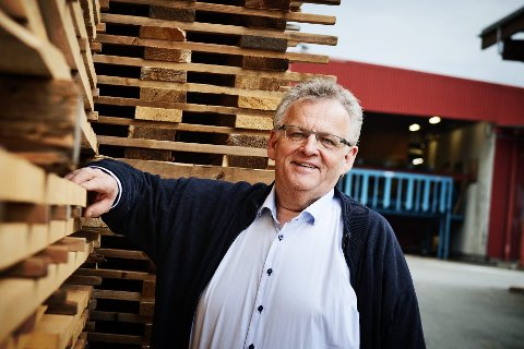 Morten Kristiansen hos Moelven Industrier er fornøyd med et godt resultat i selskapet.
