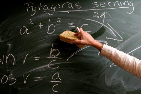Bare 118 lærerstudenter av 485 besto forkurset i matematikk, ifølge Kunnskapsdepartementet. Illustrasjonsfoto: Bjørn Sigurdsøn / NTB scanpix