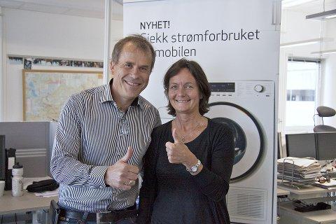 Får felles eier: Markedsdirektør Jan Jansrud i GE og markedsdirektør Maren Kyllingstad i Eidsiva Energi samler markedsvirksomheten i de to konsernene inn under et holdingsselskap som eies med halvparten hver av Eidsiva og GE.
