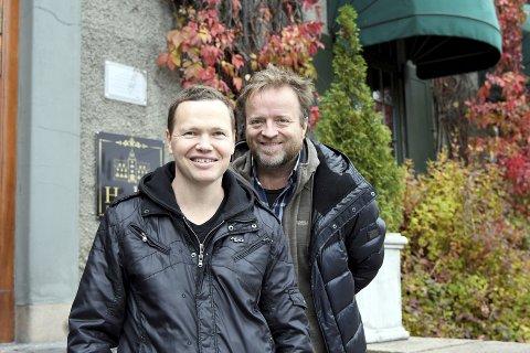 INITIATIVTAKERE: Magnus Beite (t.v) og Stein Berge Svendsen får trolig ønsket sitt oppfylt. Fra og med høsten 2018 er håpet at en ny musikk, dans og drama-linje skal ha oppstart på Lillehammer videregående skole.Begge foto: Anders Espe