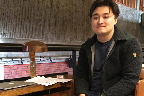 Arvid Folke Järnbert fra Gjøvik har tatt turen ned fra fjellet for å studere igjen.