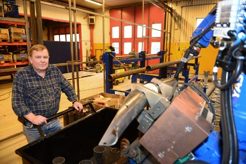 Endring: For Oppland Stål og selskapets ni ansatte handler automatisering om konkurransekraft.Foto: E. Almehagen