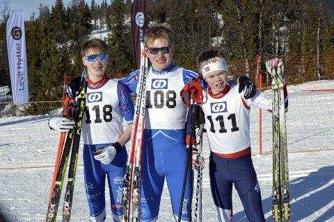SPRINT: Tre kjappe karer som sørget for å sikre seg mange poeng under Øyer-sprinten som inngår i GD-cupen. Fra venstre: Ola Løvlien, Vemund Wangen og Ola Aurmo.  Alle foto: Kjell H. Vollan