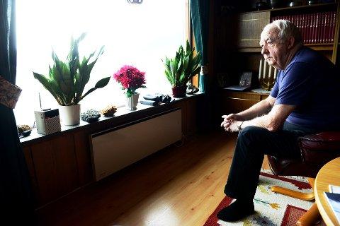 Tenker fortsatt på det: Erling Resvoll (85) fra Lom var med på redningsaksjonen på Smørstabbreen i 1967, der fire mennesker omkom. Den dag i dag tenker han fortsatt på de      mange sterke inntrykkene det var å finne fire omkomne. Foto: Einar Almehagen