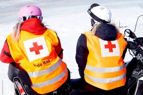 Frivillige fra Røde Kors har hjulpet mange skadde denne påsken.