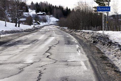 HUMPETE: Fylkesveg 216 mellom Moelv - Lillehammer via Mesnali er svært humpete og nå krever både politikere og lokalbefolkningen handling.
