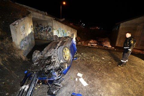 ULYKKE: En 18-åring mistet livet i ulykken i Vårsetergrenda i april i 2016 da en bil landet på taket. Onsdag var ankesaken i Eidsivating lagmannsrett.