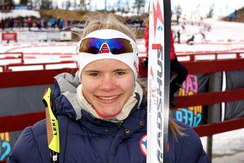 Carlotta Kruger fra Vingrom IL vant fellesstarten i jenter 16 år. Begge foto: Andreas Røsjorde Lindstad