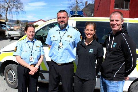 """Politiet, ved Ane Bræin Aas og Fedza Rizvic, og Antidoping Norge, ved Ingveig Innerdal og Bo Lindblad blir mer synlige på treningssentrene når en """"Rent senter""""-avtale er på plass."""