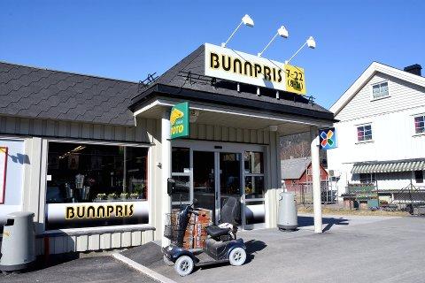 Bunnpris-butikken i sentrum av Fåvang.