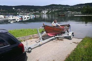 Båten ble sjøsatt på Vingnes.