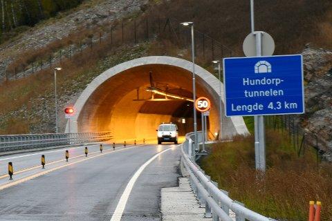 Hundorptunnelen stenges mandag kveld.
