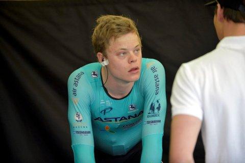 Truls Korsæth og Astana ble nummer 11 på lagtempoen i Bergen.
