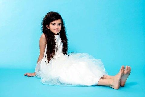 IMPONERENDE STEMMEPRAKT: Angelina Jordan (11) har hatts stor musikalsk suksess etter at hun vant konkurransen Norske talenter. Jordan synger klassisk jazz med en særpreget stemme og stor innlevelse.     Pressefoto