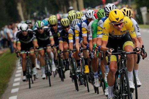Chris Froome mistet sammenlagtledelsen i Tour de France torsdag. Foto: Christophe Ena / AP / NTB scanpix