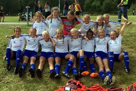 Lillehammer KFK sitt ene jenter 13-lag kom helt til åttedelsfinalen i Gothia Cup.