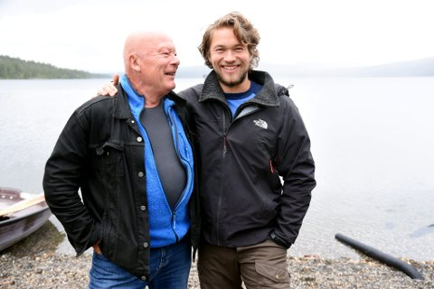 Jakob og Nils Ole Oftebro sammen på Gålå i fjor sommer. Alt tyder på at begge er tilbake i rollen som Peer i sommer.