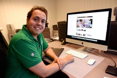 Omstridt nettavis: Mikkel Dobloug er styreleder i nettavisen Resett, som ble lansert for vel to uker siden.