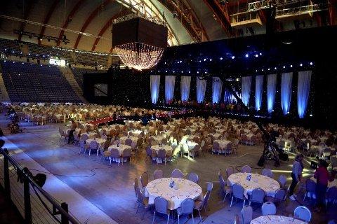 LILLEHAMMER: Håkons Hall var pyntet for idrettsfest da Idrettsgallaen var på Lillehammer i 2016. Nå vil Lillehammer at gallaen kommer tilbake til Lillehammer fra Hamar.