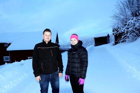 Mari Midtli (21) og Mads Erik Odde (26)  slår seg ned på søre Haugstulen på Åsen i Sel.