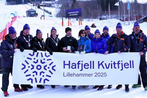 Arbeidsgruppe la fram sin anbefaling mandag om at Norges Skiforbund bør støtte  Narvik som arrangør av alpin-VM i 2027. Dette bildet er tatt i mars 2018 da Hafjell/Kvitfjell leverte sin søknad til skiforbundet.