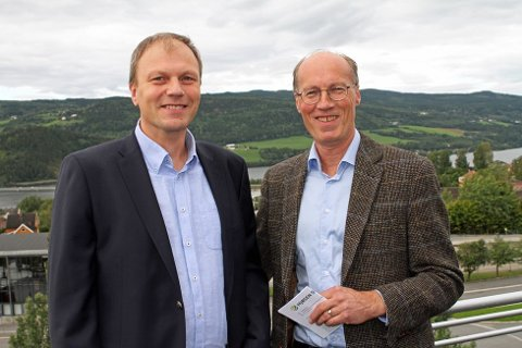 Lederskap: Steffen Skolseg og Terje Uggen i Mjøsen skog skal forsøke å ivareta Mjøsens særpreg.