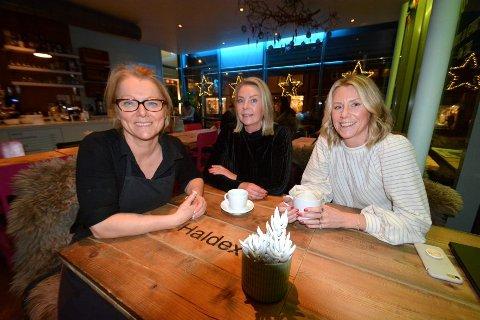Sige Amdal (f.v.), Monica Kråbøl og Ann Kristin Stubberud Lieng er klare for å drive Lykkelige dager sammen.