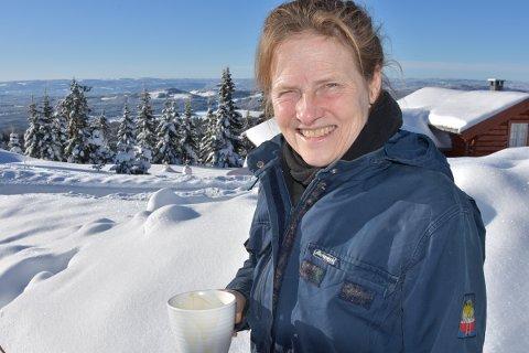 NYTER: Tenk å kunne ta en kaffekopp ute med en slik utsikt, sier danske Bente Juhl.