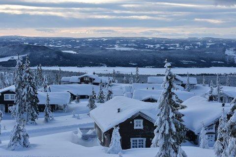 SNØRIKE: TV 2 og NRK gjør opptak i  snøriket på Sjusjøen denne juka.