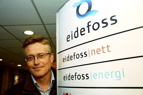 Øker utbyttet. Eidefoss deler ut 35 millioner kroner i utbytte til sine fem eierkommuner i norddalen. Det er mer enn på flere år. - Trivelig nyhet å melde, mener adm.dir Hans Kolden.
