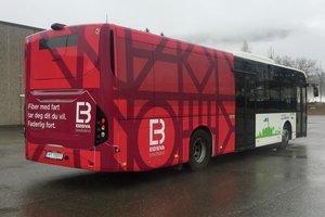 Eidsiva bredbånd er første aktør som får reklamere på bybussen i Lillehammer.