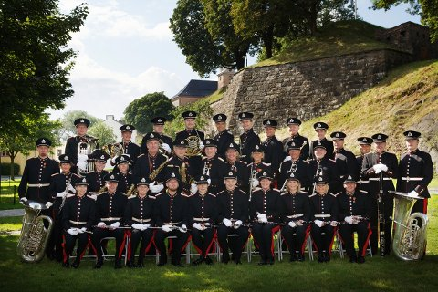KORPS: Forsvarets stabsmusikkorps skal stå på scenen under Peer Gynt stevnets høyfjsllskonsert på Kvamsfjelles 12. august.