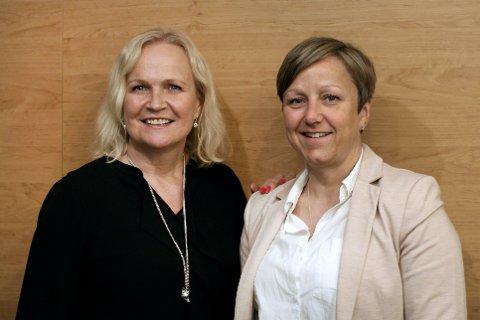 ALPINT: Anne Cathrine Enstad (t.h.) fra Lesja er med i lederprogrammet Morgendagens Skiledere. Her er hun sammen med sin mentor Gro Eide som er mediesjef i Norges Skiforbund.
