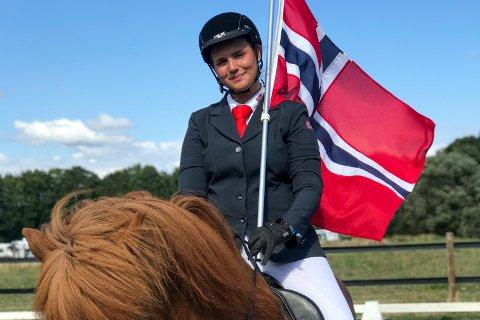 Mari Odenrud representerte Norge under nordisk mesterskap for islandshest i Sverige.