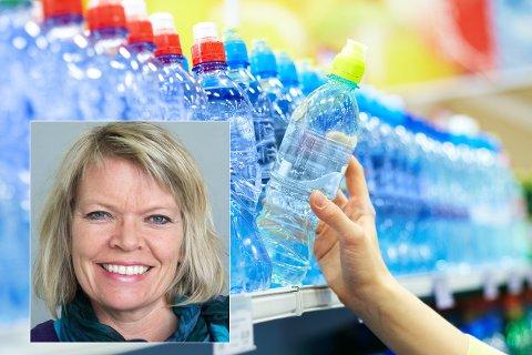 BEKYMRET: Sp-politiker i Lillehammer Hilde Hoven (innfelt) er bekymret over at det under NATO-øvelsen er bestilt opp millioner av vannflasker. Hun er bekymret for spredningen av plastsøppel.