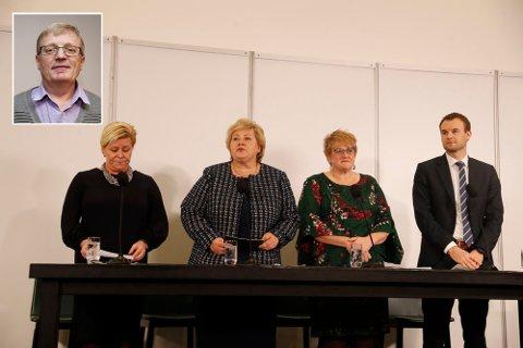 Stortingsrepresentant Olof Maurud (KrF) fra Ringsaker (innfelt) stemte imot den nye regjeringsplattformen som ble presentert torsdag kveld.
