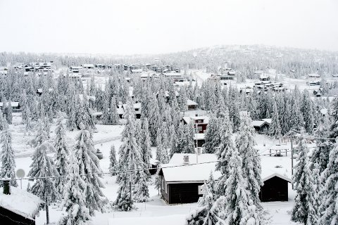 Hyttebyen Sjusjøen: Ringsaker har over 7.000 jytter, og er med det Norges største hyttekommune. Nå roper klimaforsker alarm om utbyggingstakten av hytter i fjellheimen.