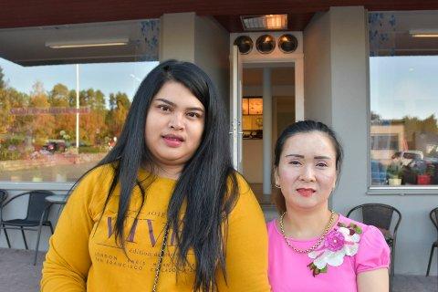SPENTE: Nattaya Jahrsngene og Hang Tran gleder seg til å åpne Hangs Sushi House onsdag.