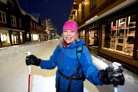 Ubetalelig, synes Leila Øvreseth, som startet dagen på fire kilometer pudder fra Røyslimoen.